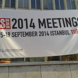 Banner for the AGM Meeting in front of Istanbul Commerce University