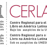 The word CERLALC in red with the full title of the organisation below: Centro regional para el fomento del libro en America Latina y el Caribe