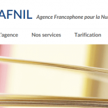AFNIL logo and website, containing text and a book image